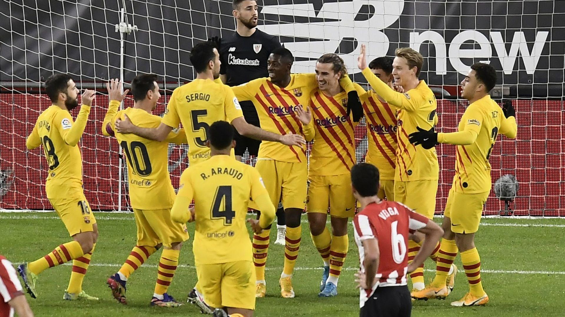 Меси вдъхнови Барса за първа победа в Билбао от 26 месеца