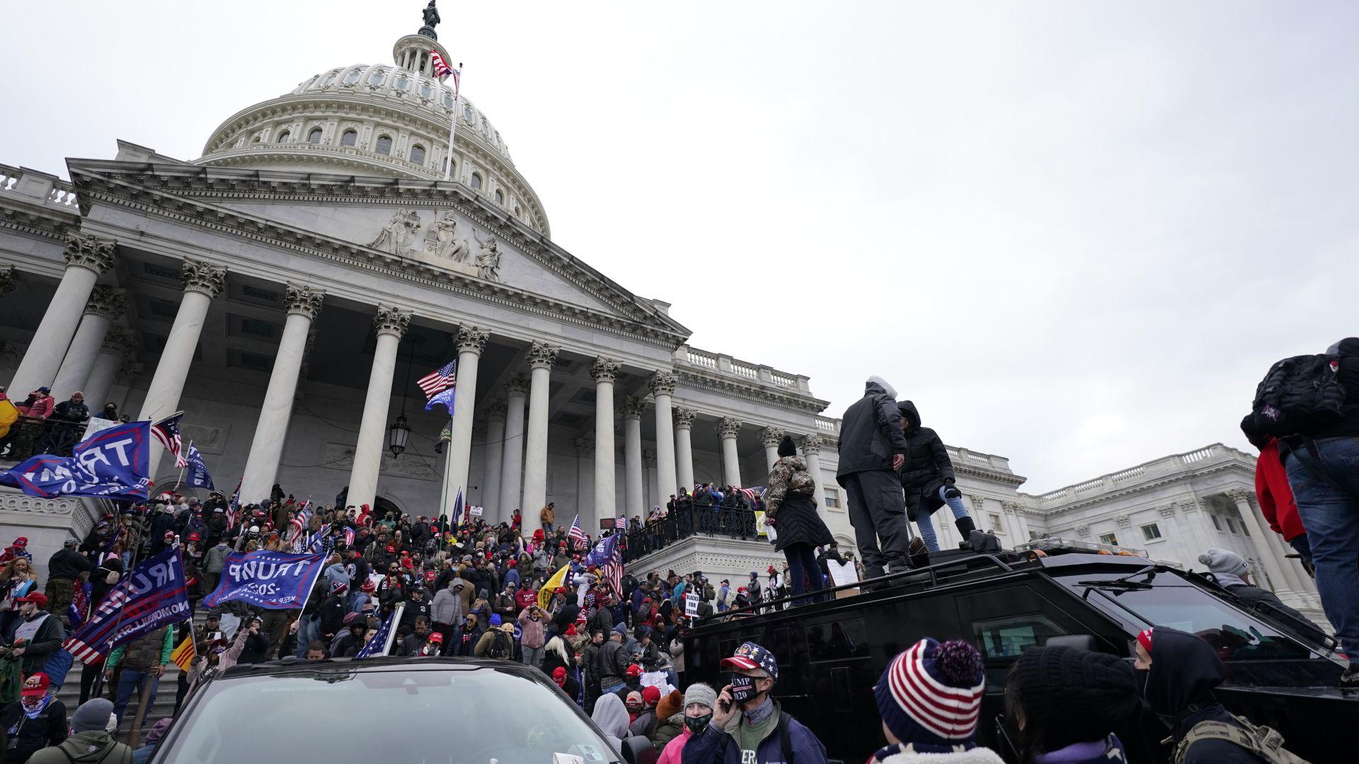 Отмениха заседание в Капитолия след предупреждение за възможен план за ново нахлуване