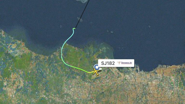 Пътническият самолет на индонезийската авиокомпания