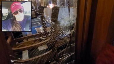Появи се видео от убийството на Ашли Бабит при щурма на Капитолия