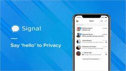 Signal тества опция за изпращане на криптовалута