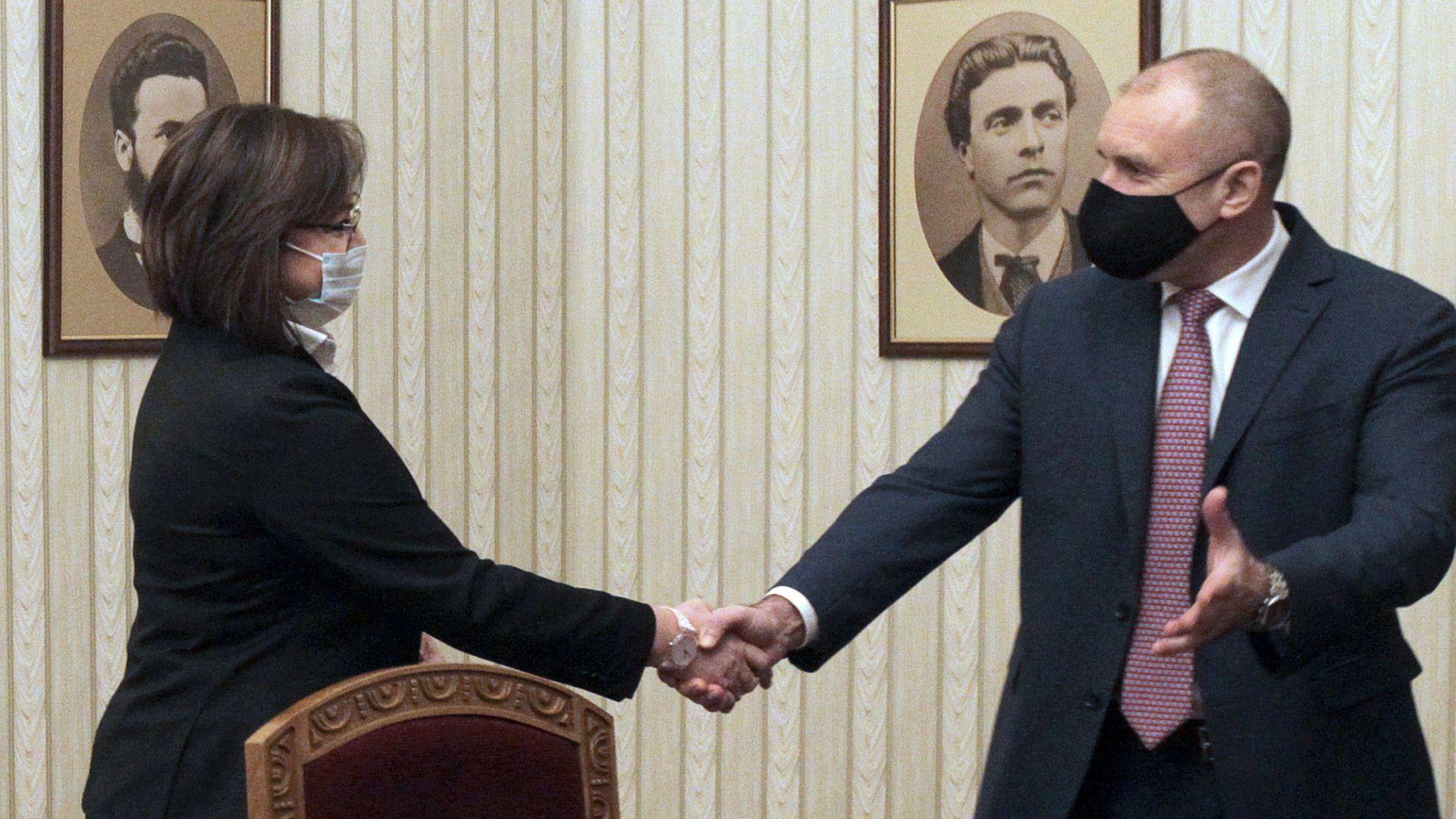 Румен Радев избра БСП за третия мандат