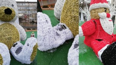 Вандали нападнаха Дядо Коледа и влакчето в центъра на Варна