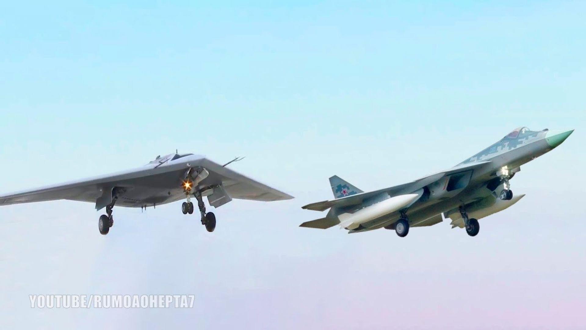 """Дроновете """"Охотник"""" ще се управляват от Су-57"""