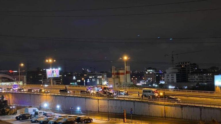 Тежка верижна катастрофа затвори Околовръстния път в столицата, алармираха очевидци