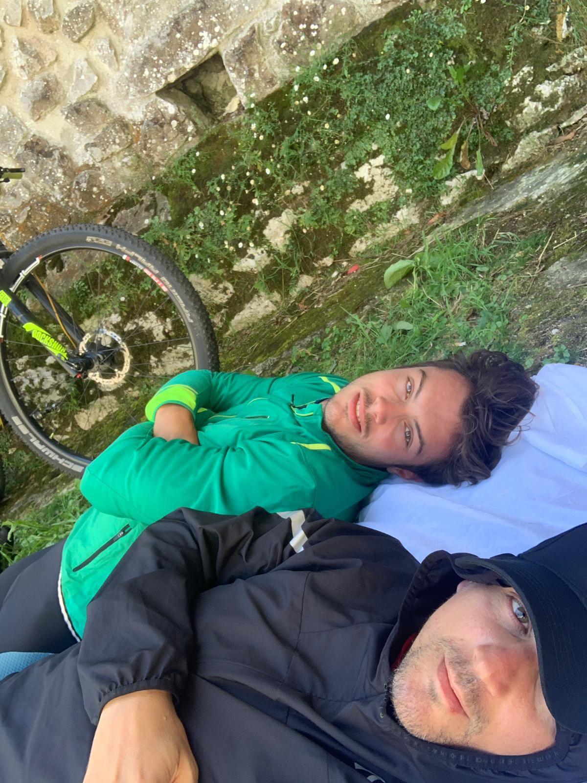Почивка след интензивно каране на колело