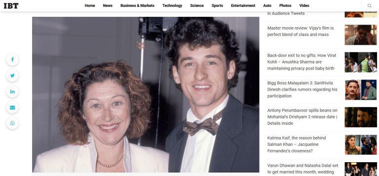 Патрик Демпси с първата си съпруга Рошел