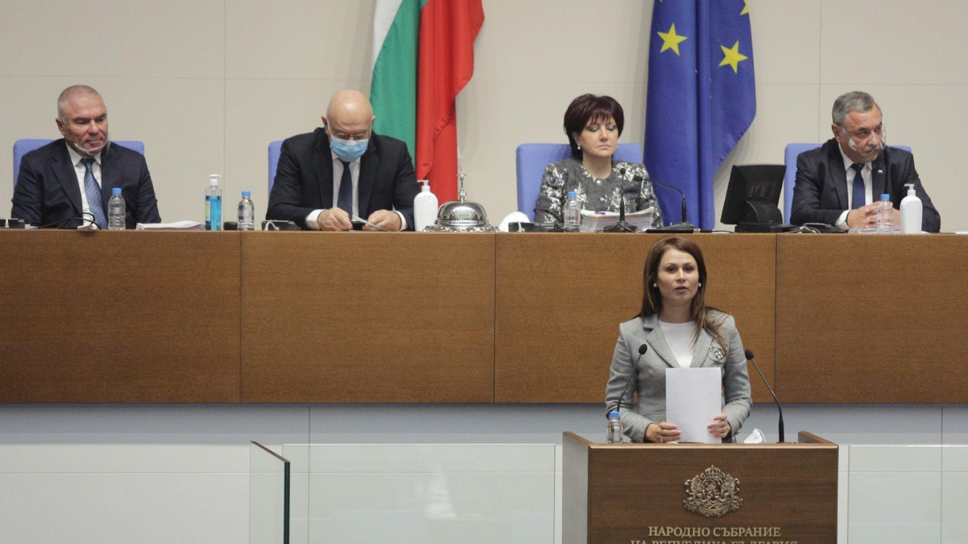 """Кръстина Таскова от """"Воля"""" пък изрази мнение, че е важно да бъдат направени всички необходими промени в Изборния кодекс, за да може да се гарантират едни прозрачни избори, както и да се гарантират резултатите за българския народ."""