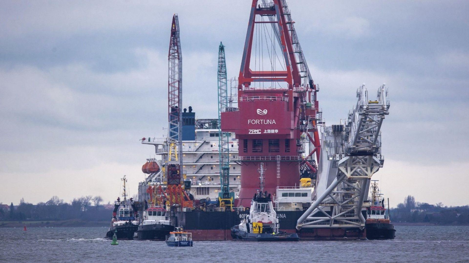 """Германия разреши строителството на """"Северен поток 2"""" в свои води"""