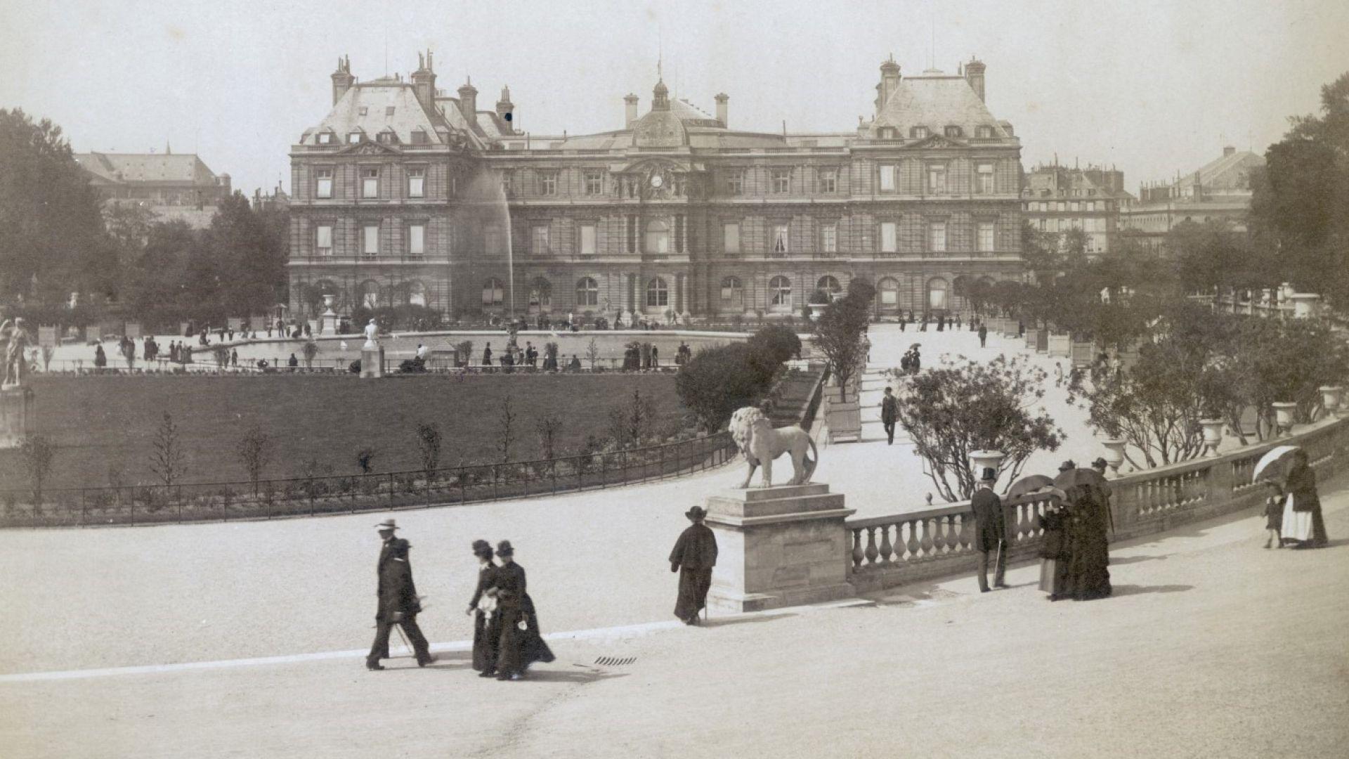 Люксембургският дворец и прочутата му градина са изглеждали така през 1880 г.