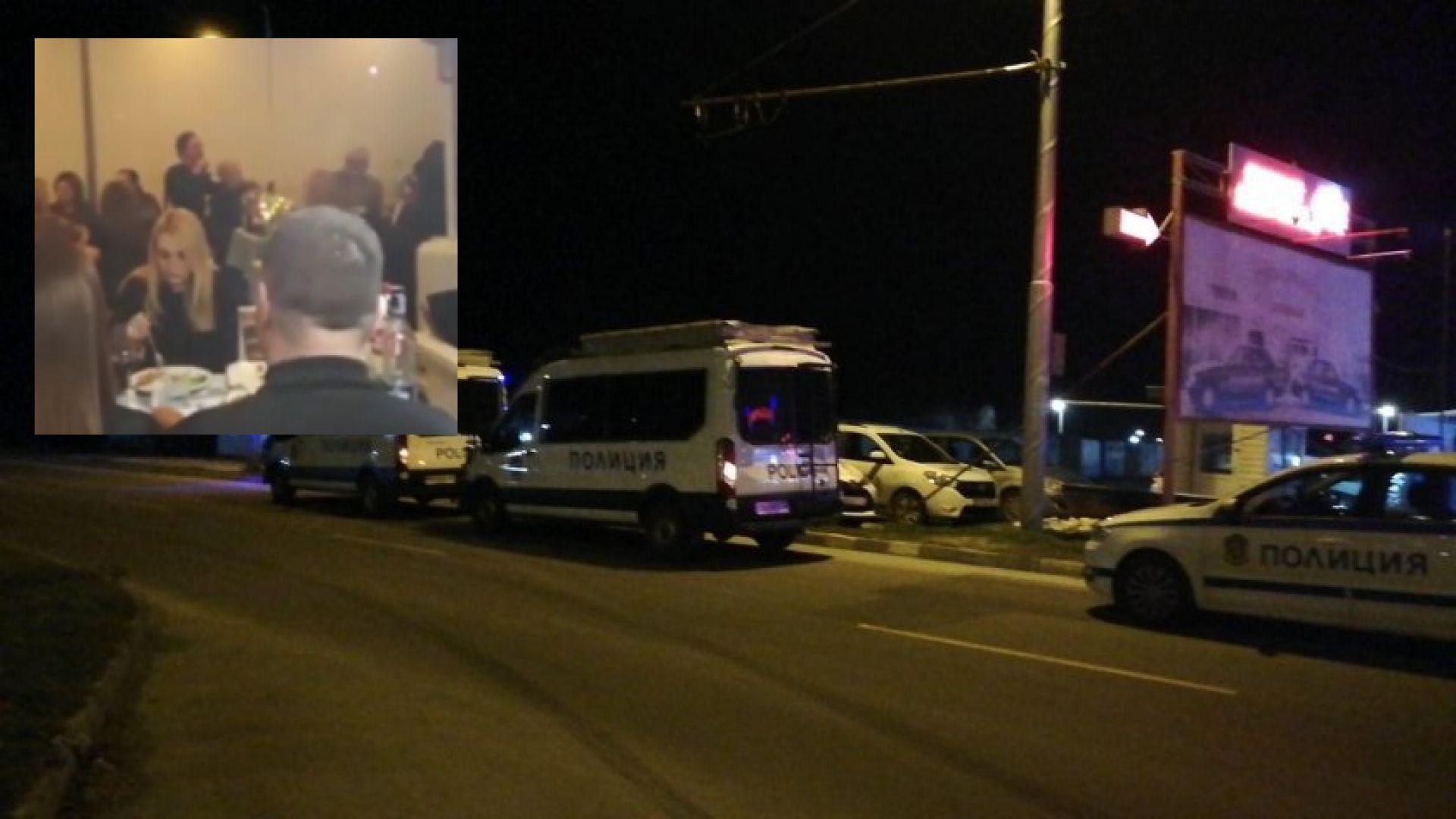 Празнуващи в ресторант в Пловдив нападнаха пристигналите полицаи  (видео)