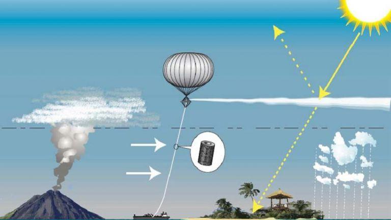 Балонът ще разпръсне частиците СаСО3 на височина  на височина между 11 и 50 км
