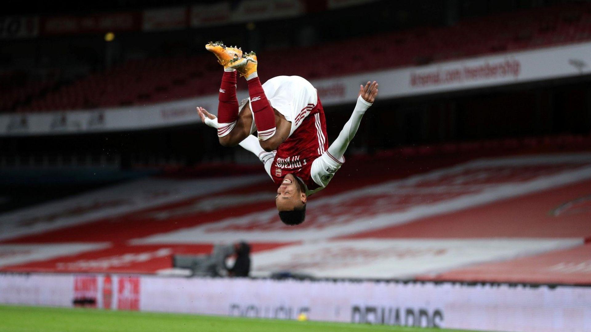 Обамеянг се събуди, Арсенал се забавлява и влезе в топ 10
