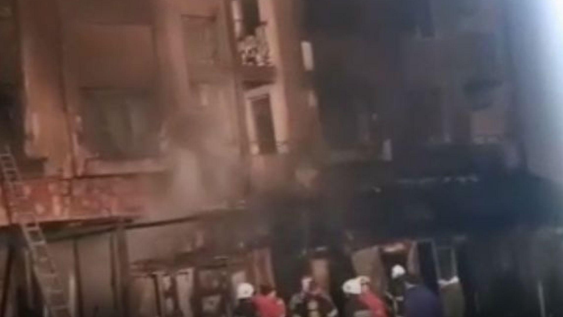 Пламна затворено заведение в Приморско