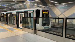 Пропадна участък от релсовия път на третия лъч на метрото