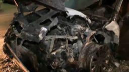 Запалиха три автомобила на един собственик в Перник (видео)