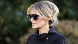 Мелания Тръмп си тръгна от Белия дом като жена, потънала в траур