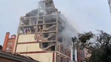 Мощен взрив разруши сграда в центъра на Мадрид (видео)