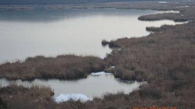 Опасен лед покри езерото Сребърна, намаляха птиците