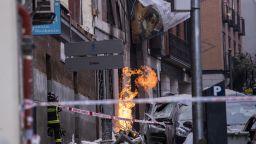 Мощен взрив разруши сграда в центъра на Мадрид (видео, снимки)