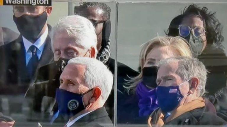 Едно отклонение на камерата от лицето на новия президент на