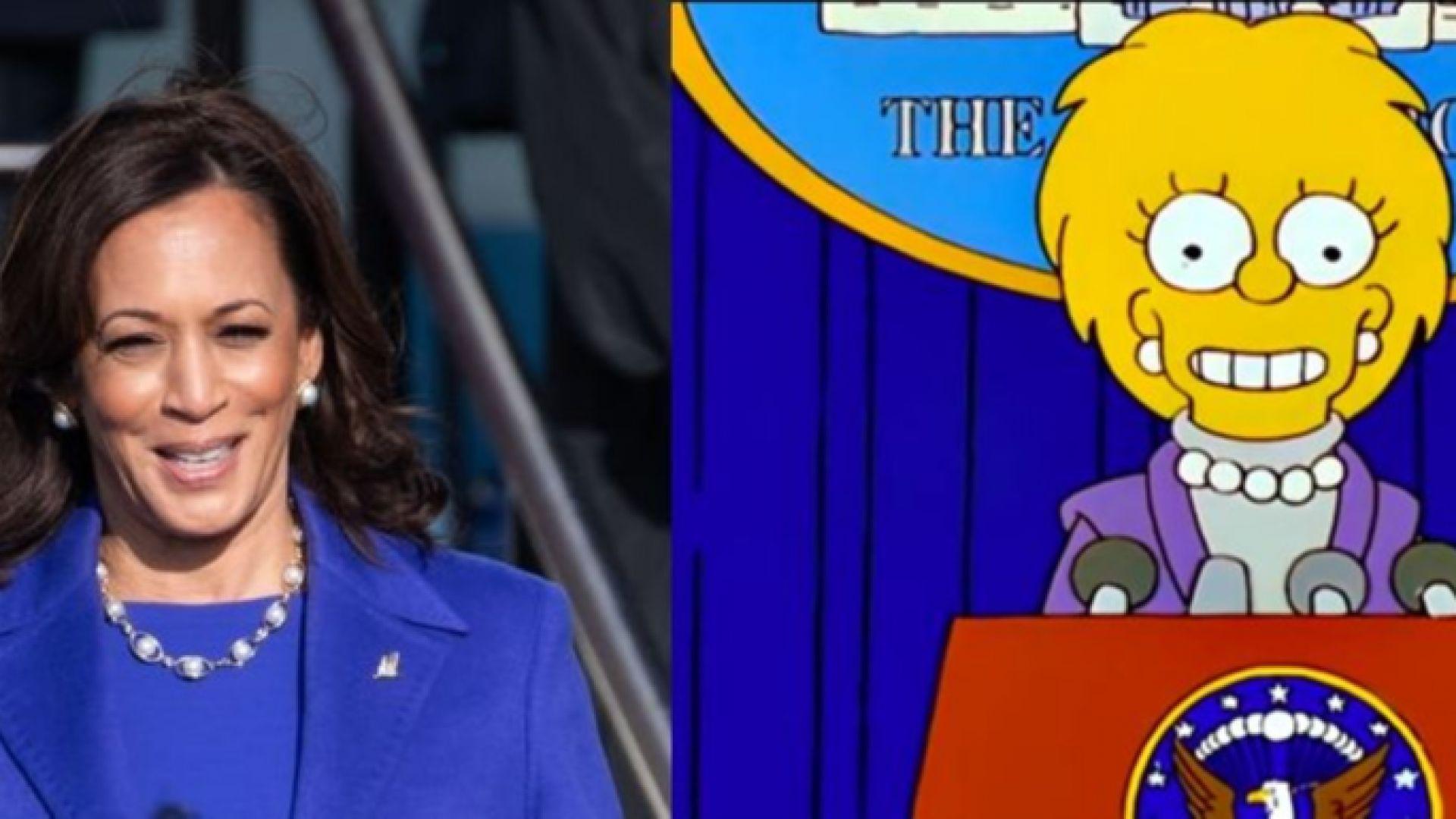 """Дали """"Семейство Симпсън"""" отново предсказа бъдещето: Лиса Симпсън като Камала Харис"""