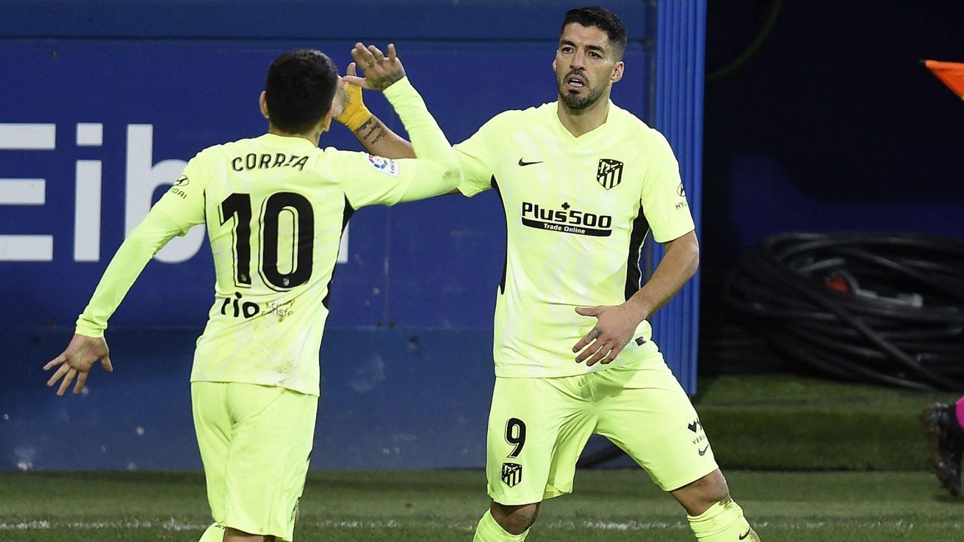 Луис Суарес продължава да води Атлетико към титлата в Испания