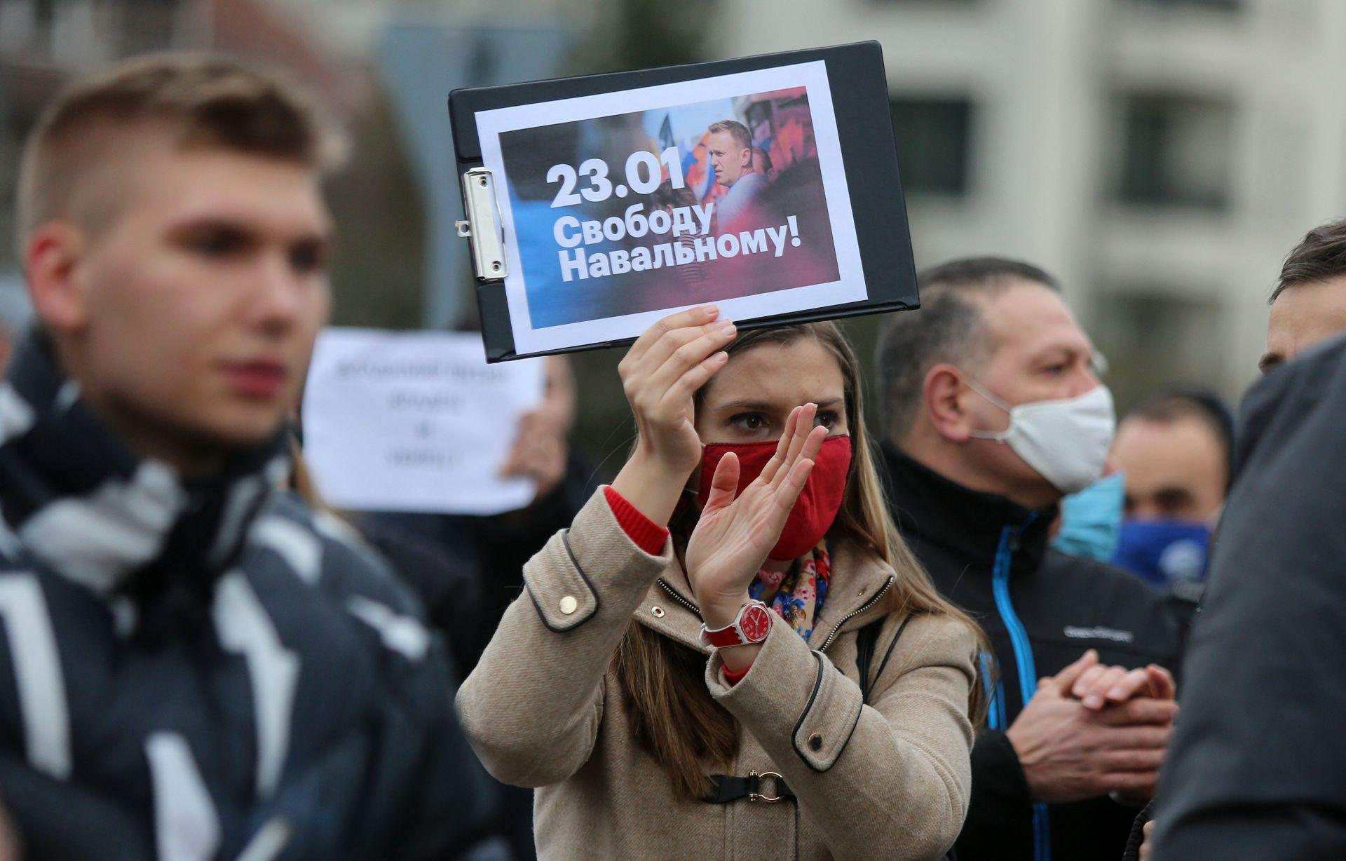 Демонстрацията в подкрепа на Навални в София
