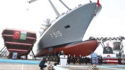 Първата военна фрегата турско производство бе спусната на вода