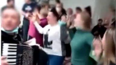 Скандално парти на медици в ковид болница в Хърватия (видео)