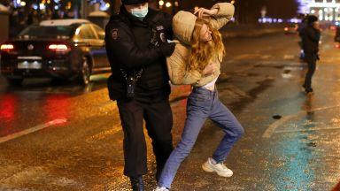 Десетки деца и журналисти са задържани при протеста за Навални в Москва