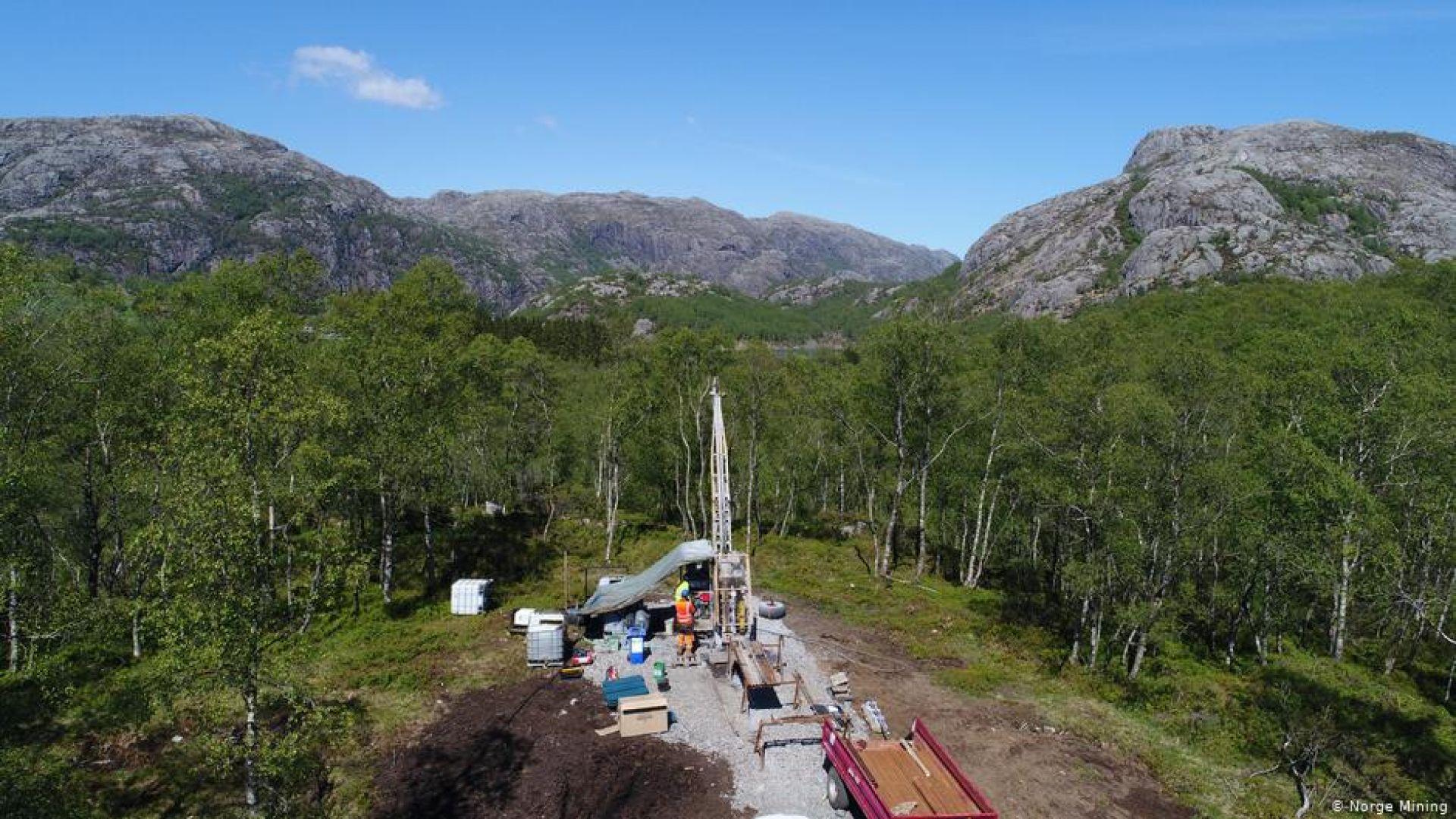 Откриха гигантски залежи на редки суровини в Норвегия