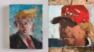 Художник създаде 120 нюанса на Тръмп