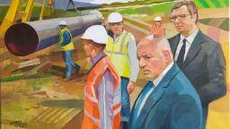 Художникът, нарисувал Борисов и Вучич: Хейтъри, не съществувате за мен