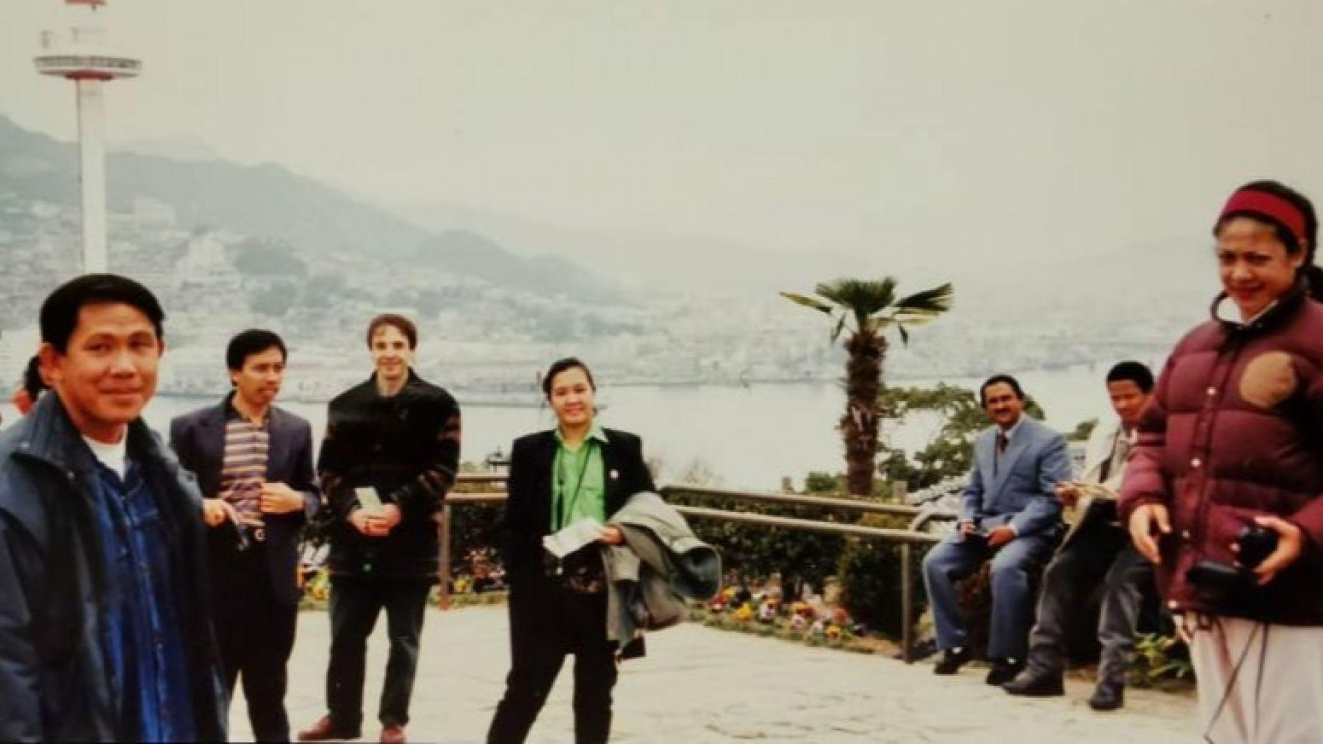 В Нагасаки по време на специализяцият през 1995 година