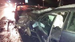 Тежка катастрофа с 4 коли след челен сблъсък на Е-79 край Благоевград