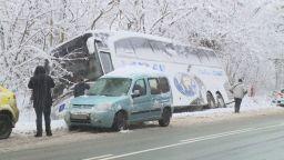 Автобус катастрофира на пътя Русе-Бяла