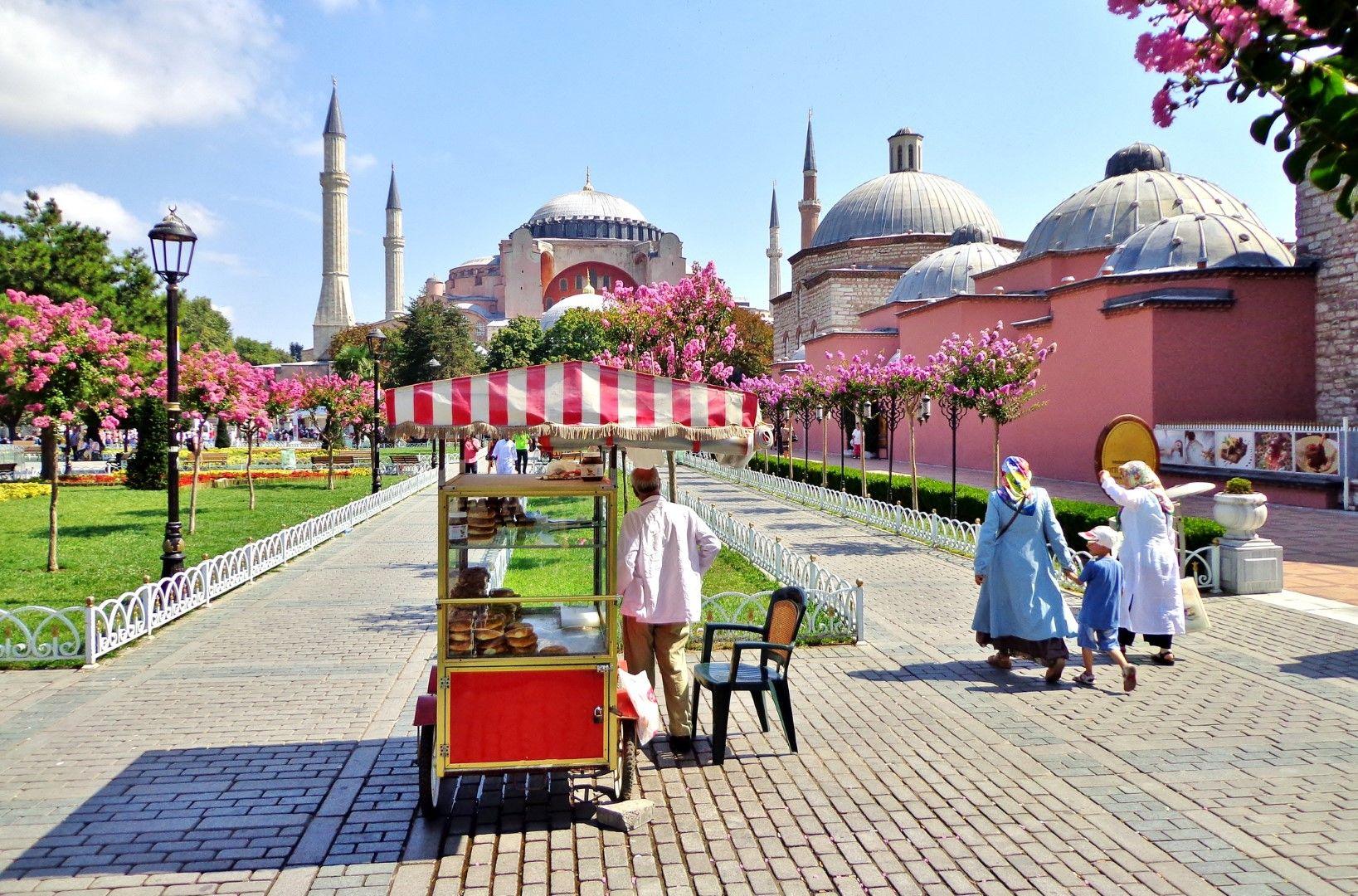 Количка за симит в Истанбул