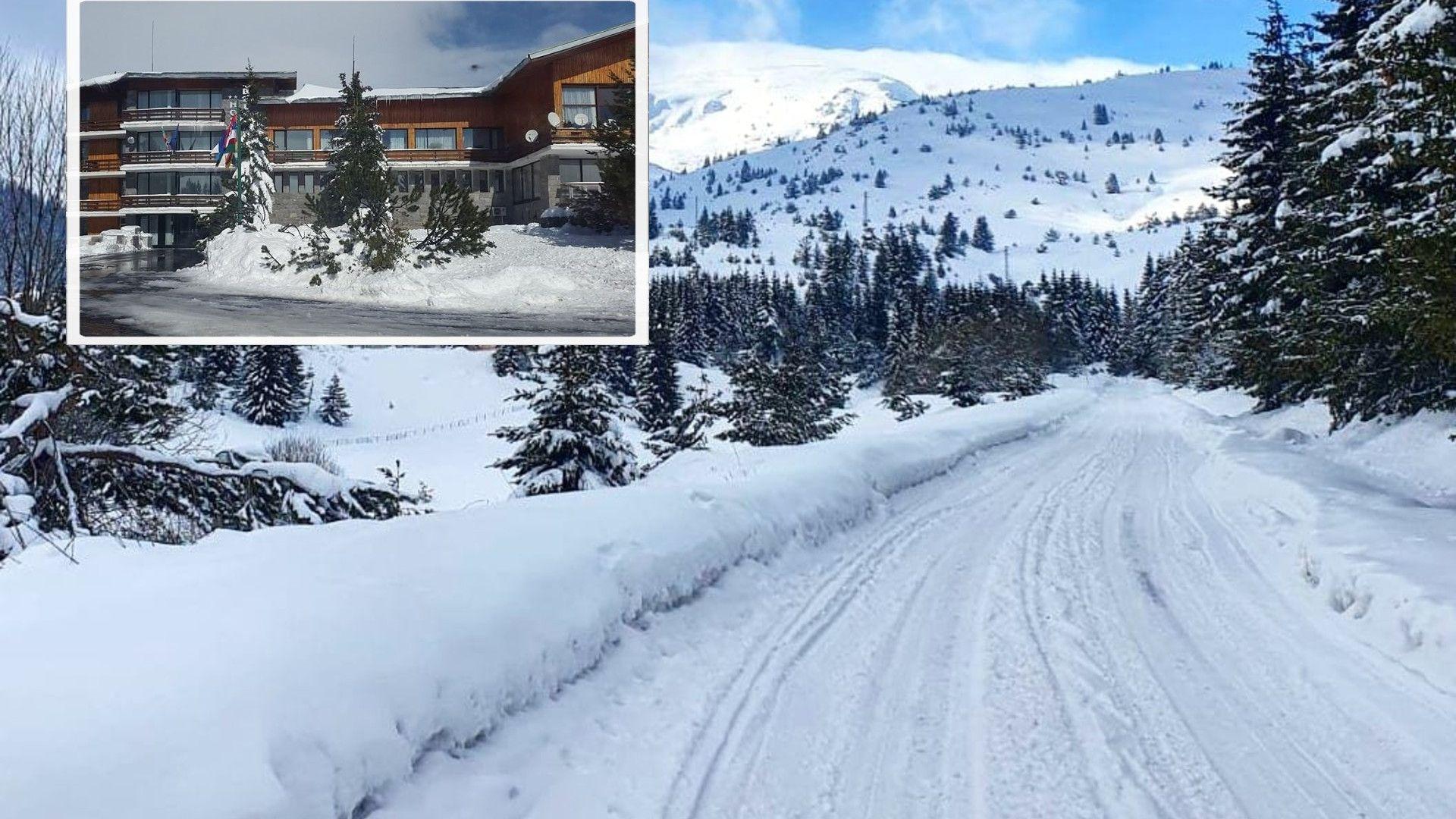 180 спортисти са в капан на Белмекен, пътят е затрупан от 2.5 метра сняг