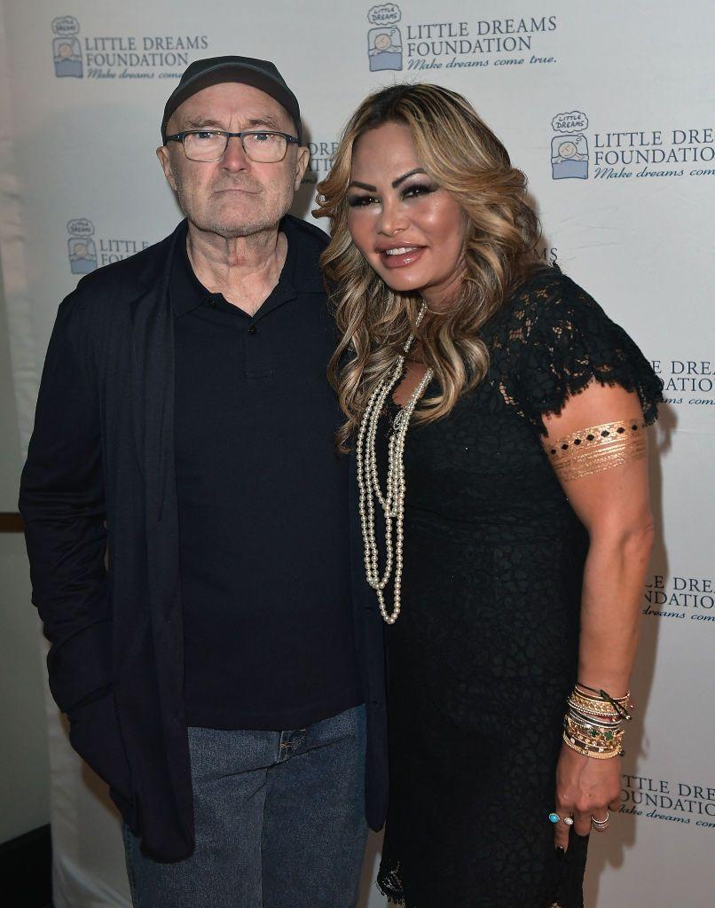 Фил Колинс с бившата си съпруга Ориан