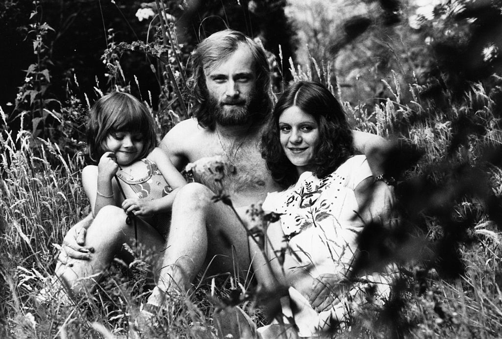 Фил Колинс с първата си съпруга Андреа и дъщеря им Джоели