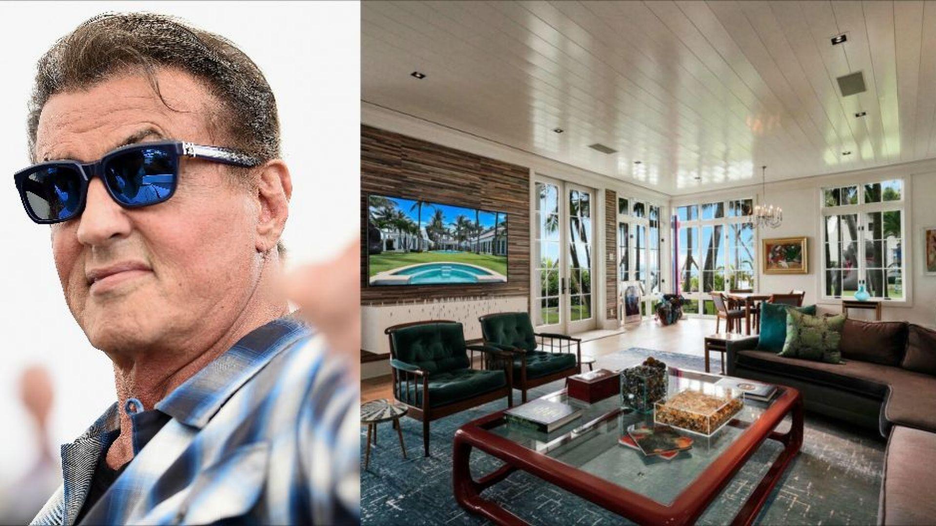 Вижте красивия нов дом на Силвестър Сталоун в Палм Бийч