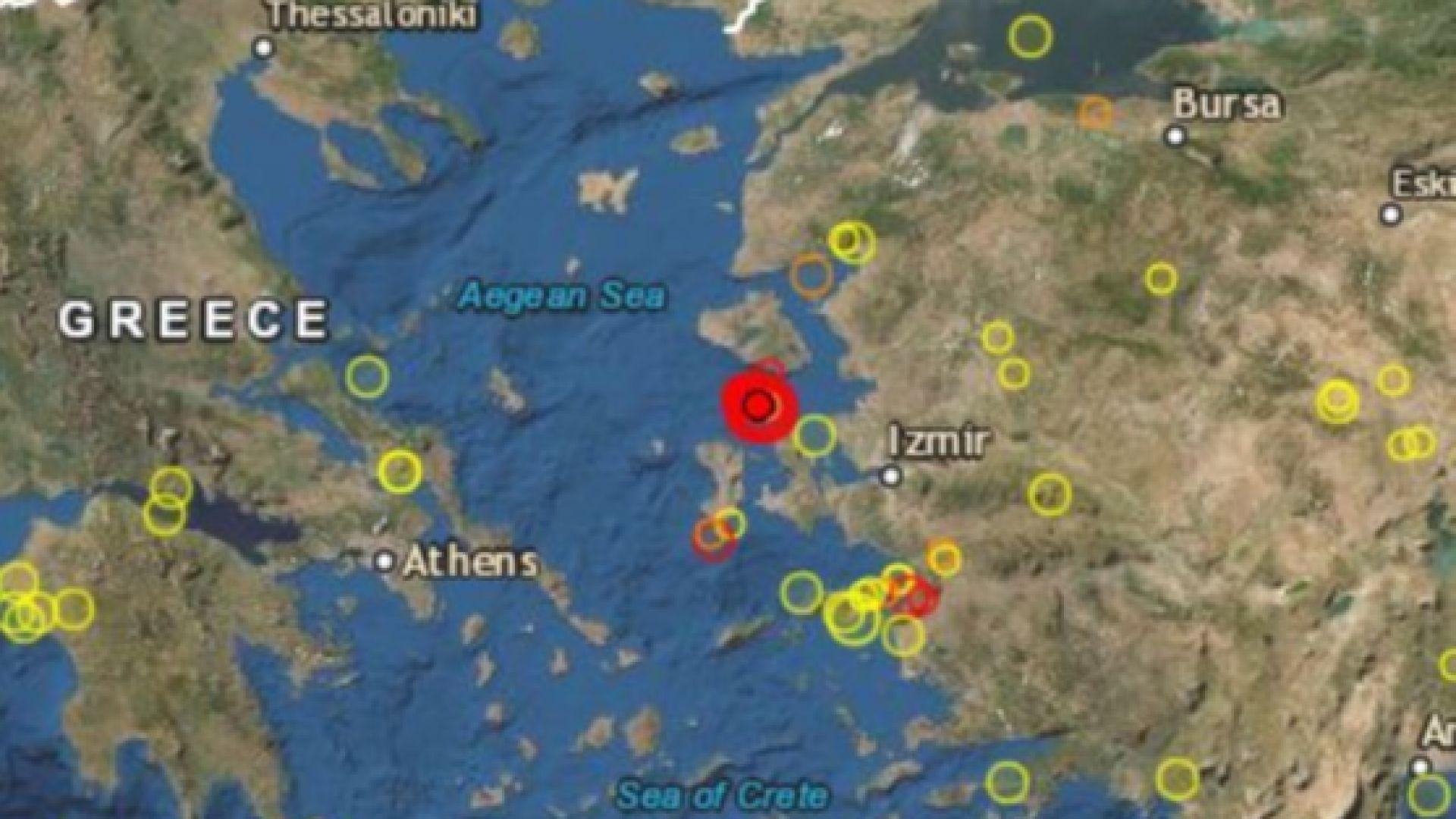 Поредица от земетресения разтърсиха турския окръг Измир