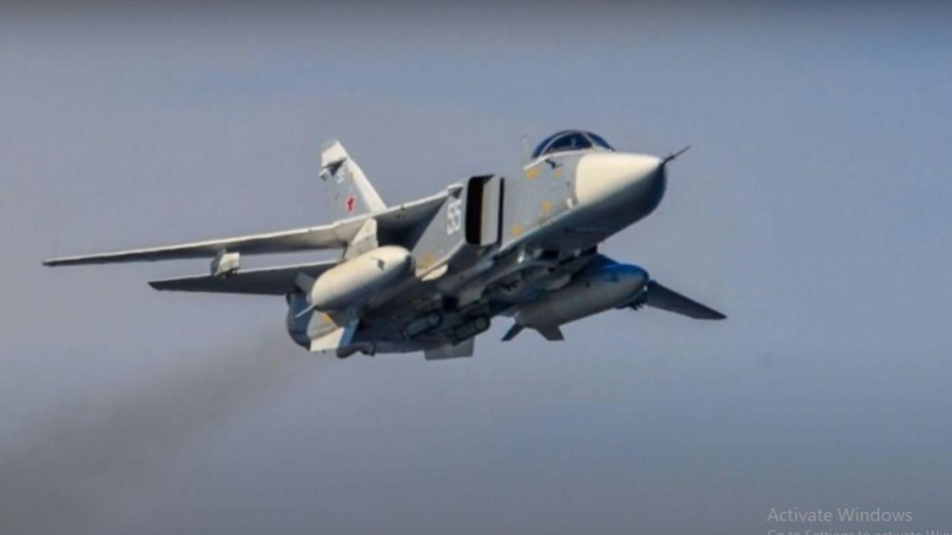 Руски Су-24 прелетя на метри от американски кораб в Черно море (видео)