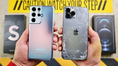 Samsung Galaxy S21 Ultra срещу Apple iPhone 12 Pro Max (видео)
