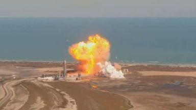 """Прототипът на """"марсианската ракета"""" на SpaceX експлодира при кацане (видео)"""