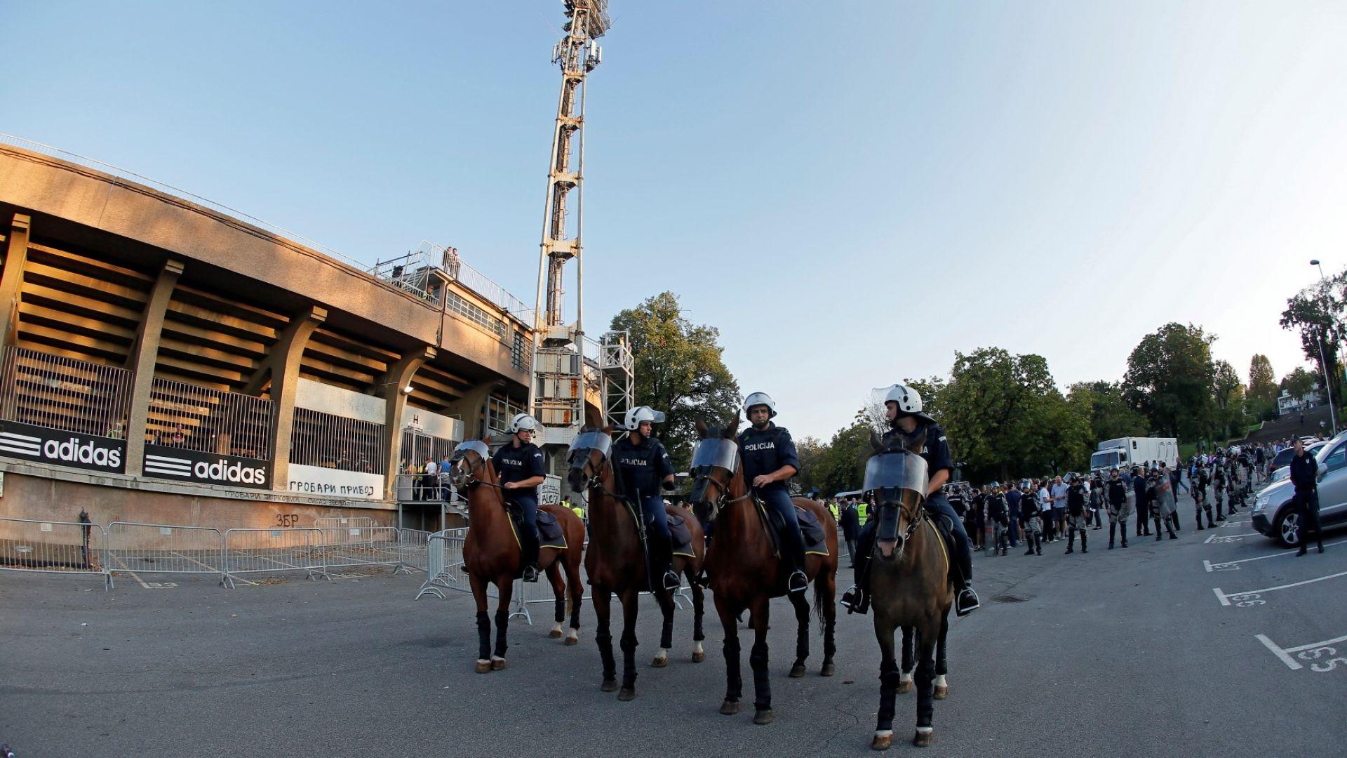 Полиция блокира стадионите на сръбските грандове, 17 ареста за тартори от футболна агитка