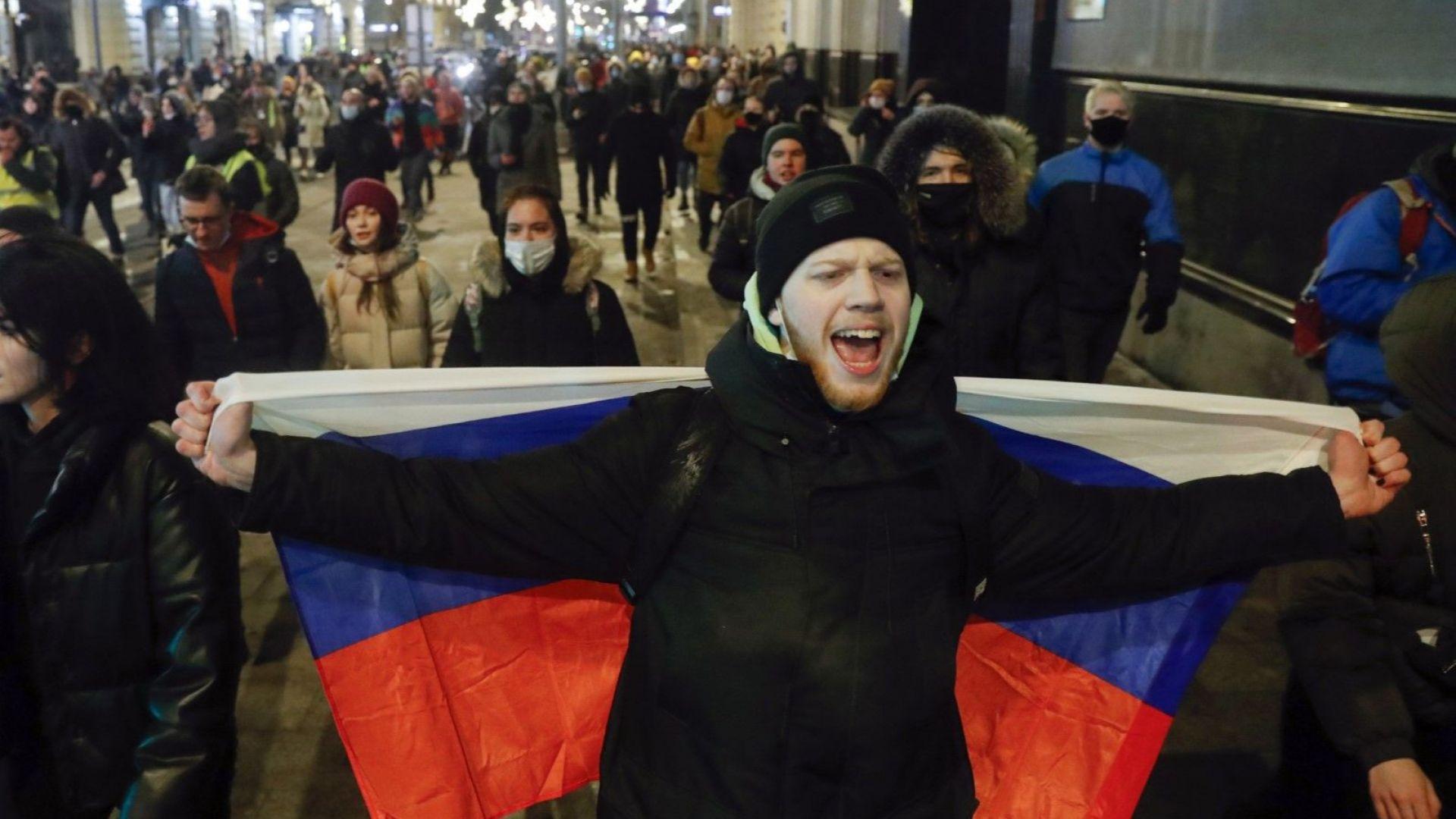 Властите в Москва спряха митинг за Навални