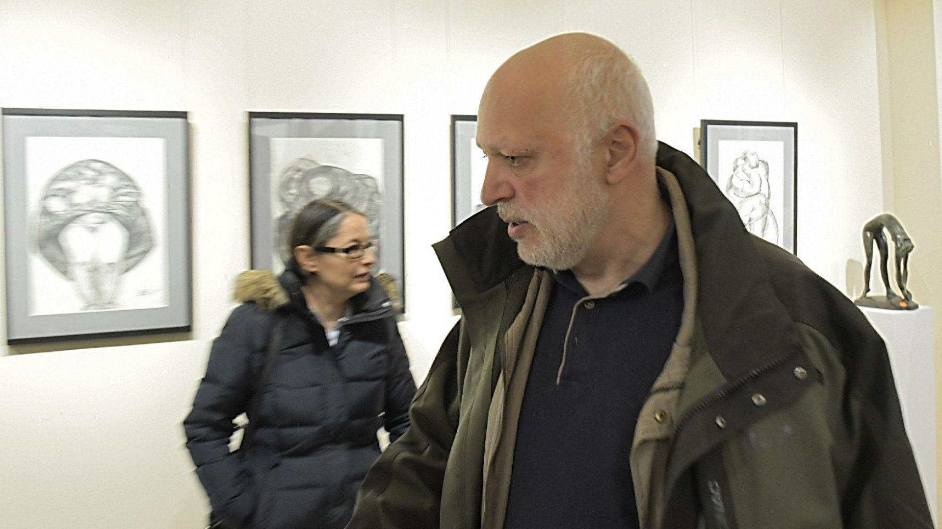 Вандали блокираха ателието на скулптора Велислав Минеков