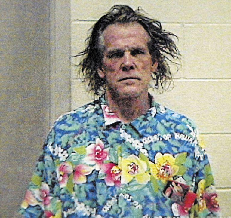 Ник Нолти през 2002 г., когато е заловен да шофира в нетрезво състояние
